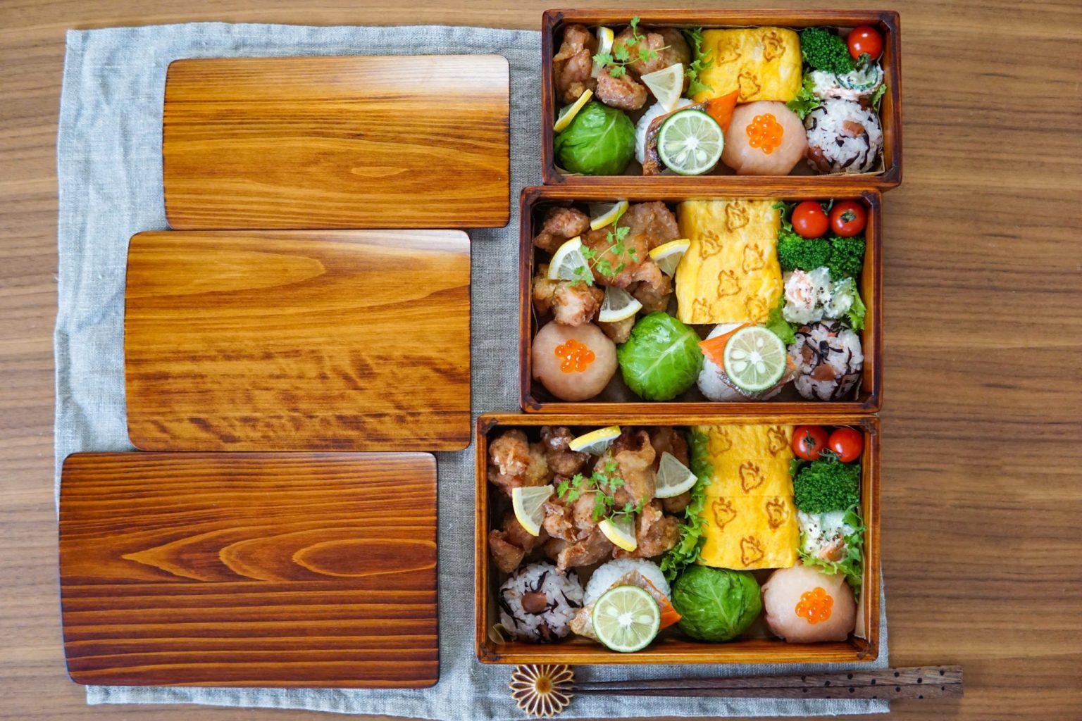 日本製 木製弁当箱 漆塗り 高級感あるお弁当箱 木の弁当 大分県