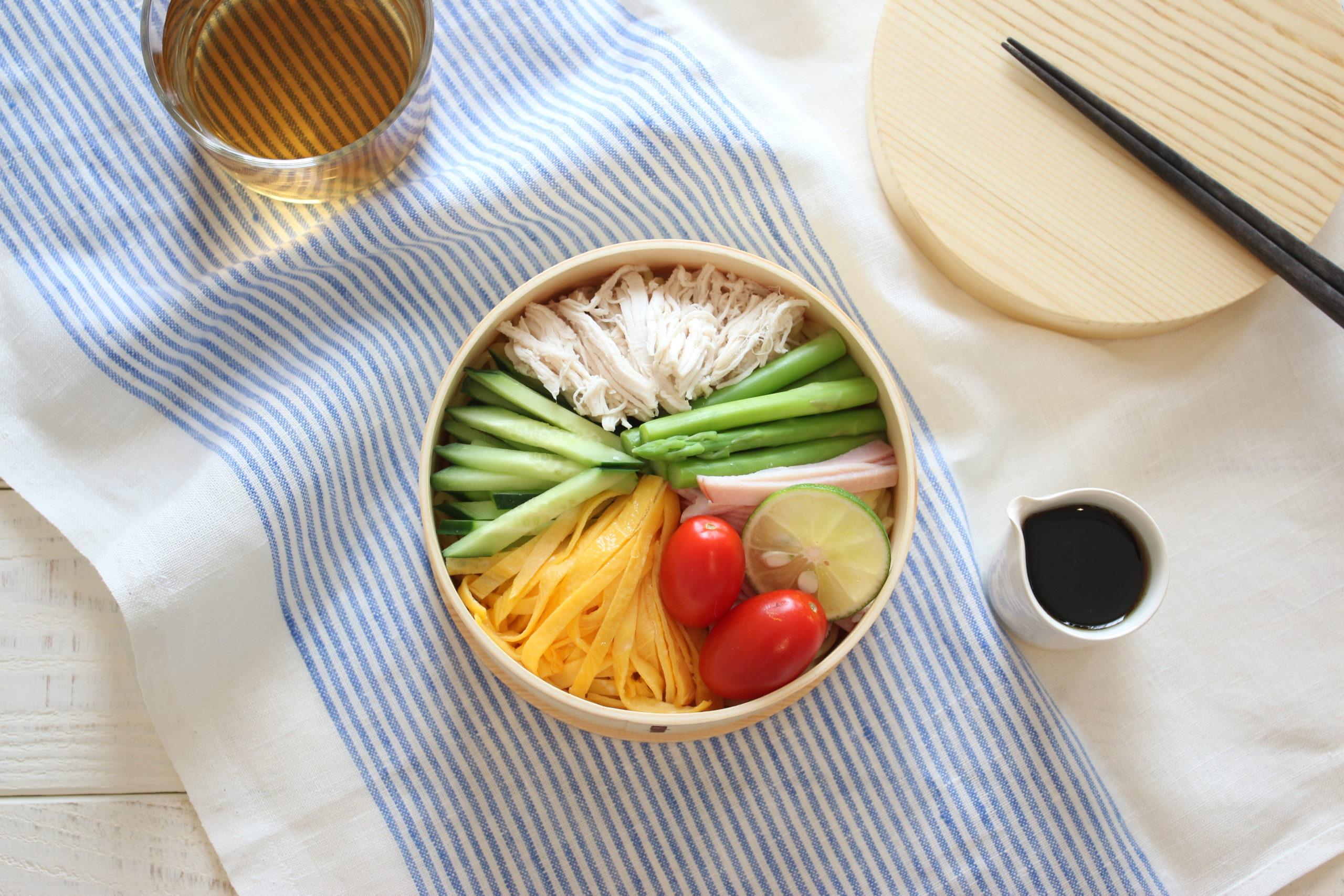 夏に嬉しい麺レシピ冷やし中華のお弁当