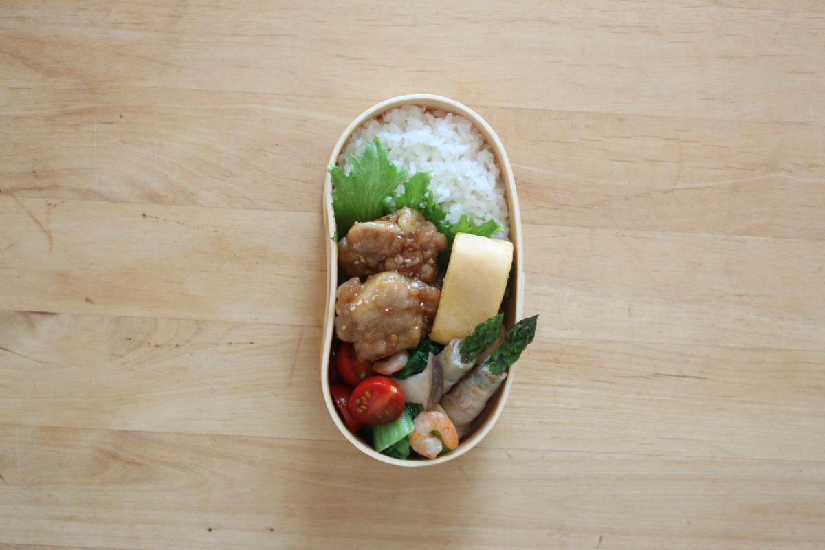 曲げわっぱ豆型弁当箱の詰め方